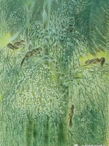 卢向玲《棕林物语》中国画_金奖
