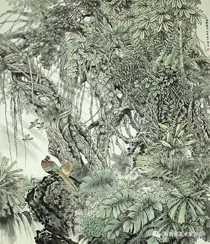 金极量《雨林春光》中国画-银奖