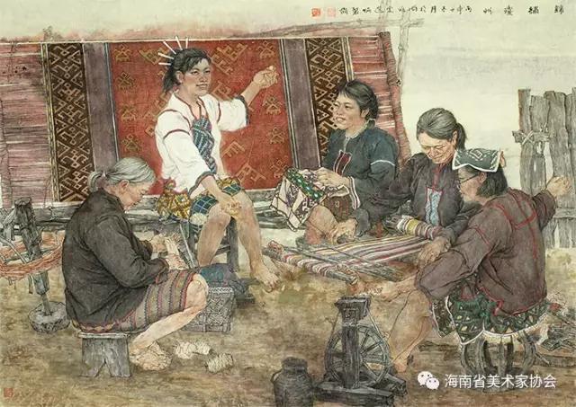 岑选炳《锦绣琼州系列二》中国画-银奖