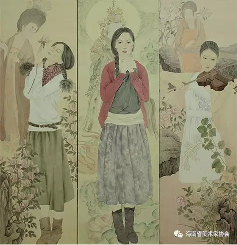 申牧青《慕》中国画银奖