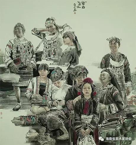 刘培军《黎苗三月三》中国画-铜奖