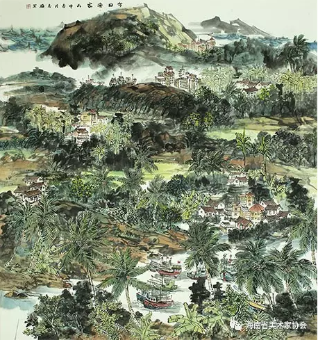 李志雄《今日渔家》中国画-铜奖