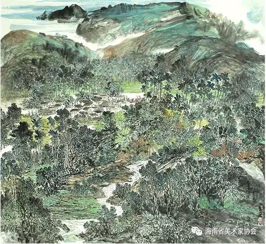 魏小青《槟榔谷》中国画-铜奖