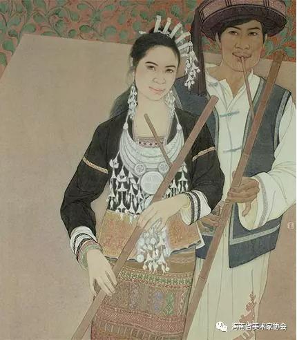 刘小莉《黎歌悠悠》中国画-铜奖