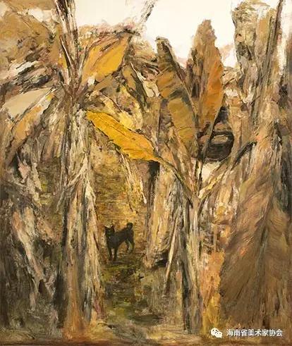 王应良《蕉园》油画-铜奖