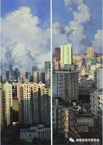 王莉《都市记忆系列南国丽日》油画-120x82cm-铜奖