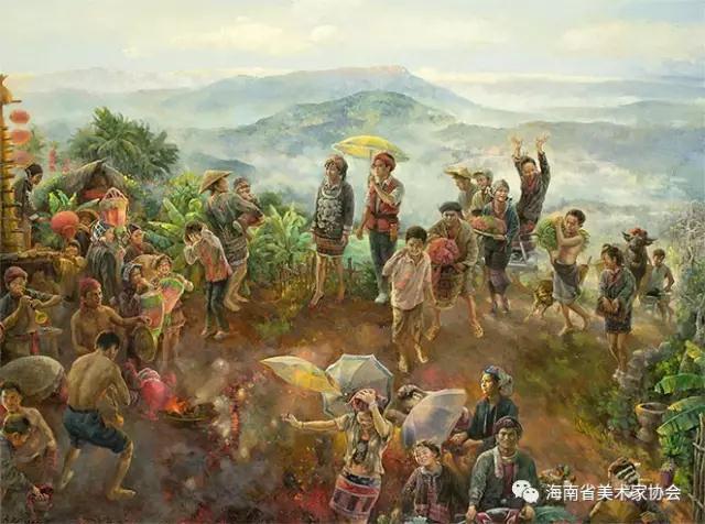 陈居茂《三月》油画-铜奖