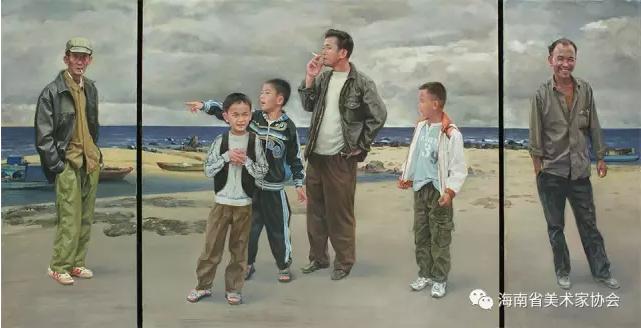 陈奕文《乡里乡亲》油画-银奖