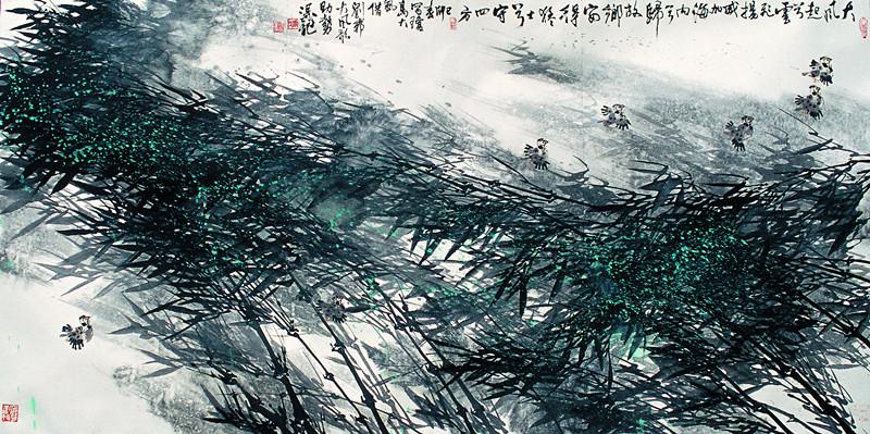 中国画《大风歌》