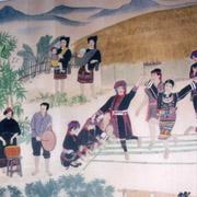 蒋艺鸿《海南民族风情图》